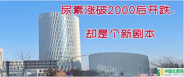 【中肥通讯社】尿素涨破2000后开跌,却是个新剧本