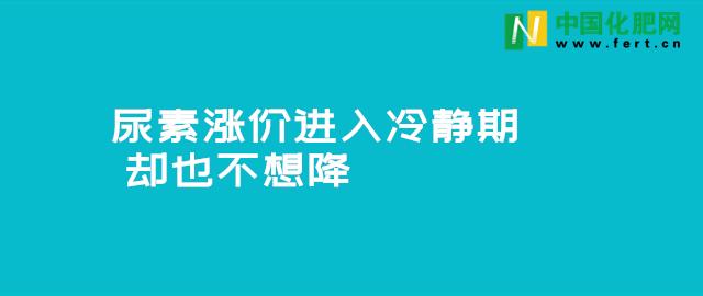 【中肥通讯社】尿素涨价进入冷静期 却也不想降