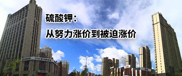 【中肥通讯社】硫酸钾:从努力涨价到被迫涨价
