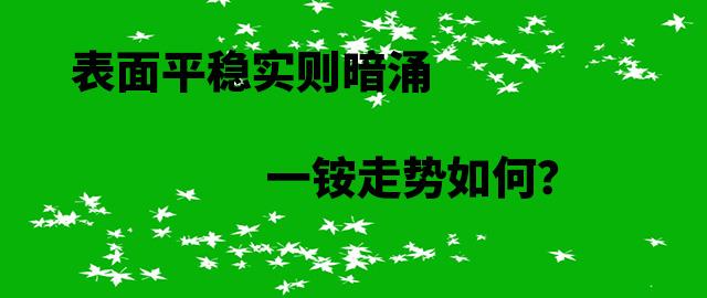 【中肥通讯社】表面平稳实则暗涌 一铵走势如何?