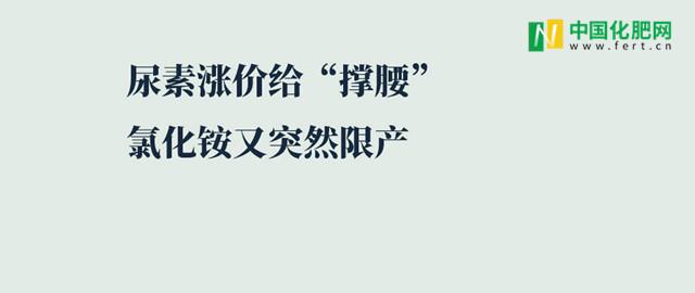 【中肥通訊社】尿素漲價給撐腰 氯化銨又突然限產